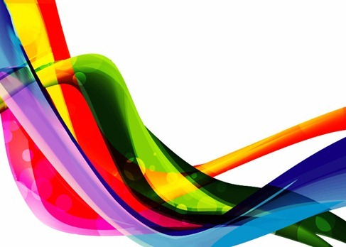 Color Wave Abstract Backgroud Vector Graphic