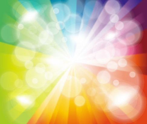 Colorful Burst Bokeh Background Vector Illustration