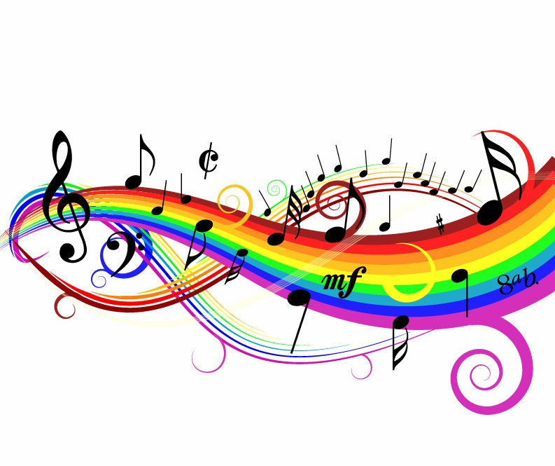 colorful music background vector illustration free vector graphics rh webdesignhot com vector music artwork music vector art free download