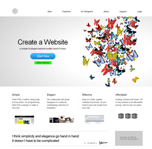Free Website Creator   Creating A Free Website   IM creator