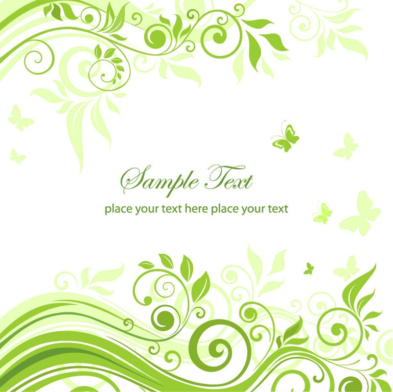 Green Floral Ornament Vector Graphic  Free Vector Graphics  All Free