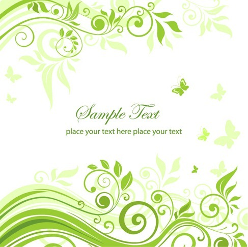 Green Floral Ornament Vector Graphic
