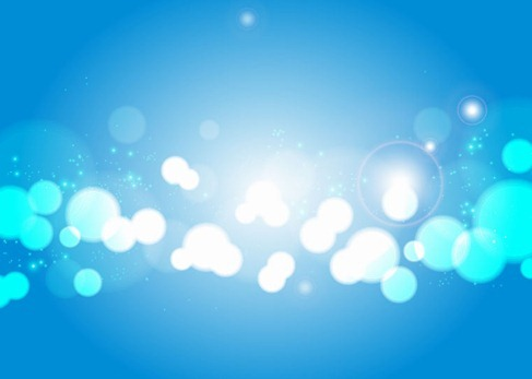 Light Blue Bokeh Vector Background