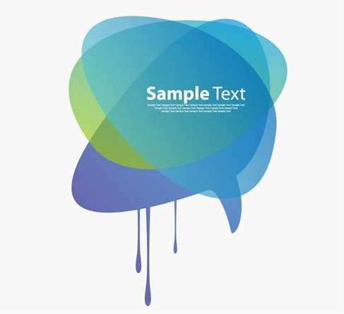 Modern Speech Bubble Vector Graphic