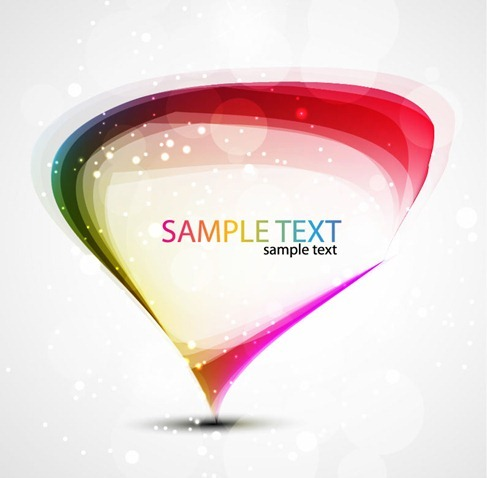 Abstract Colorful Rainbow Vector Art