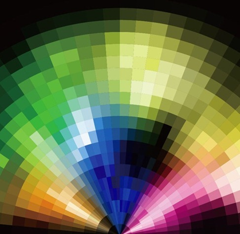 AbstractRadialColorfulMosaicBackgroundVector