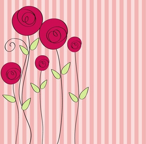 HandDrawnStyleFloralRomanticBackground