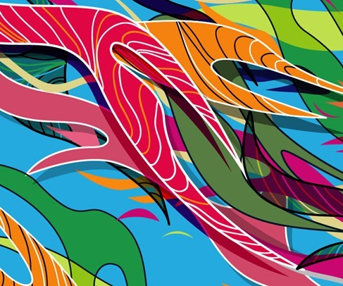 Abstract Colored Vector Illustration