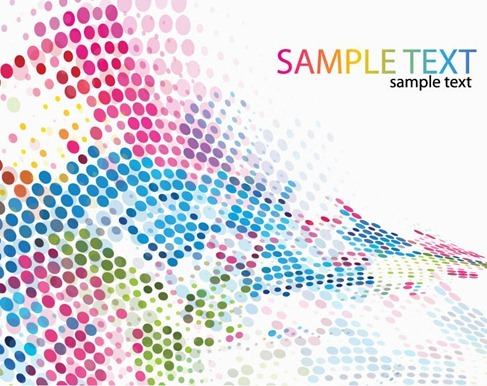 Colorful Dotted Background Vector Illustration