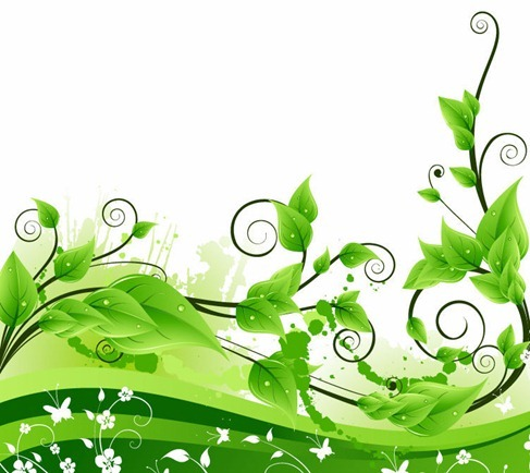 Fresh Green Floral Background