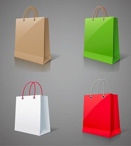 Shopping Bags Vector Graphic