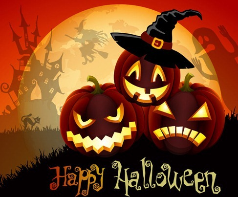 Vector Cute Halloween Illustration