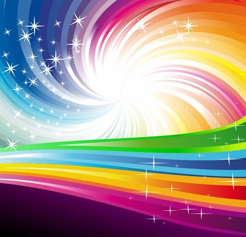 Vector Rainbow Colorful Background