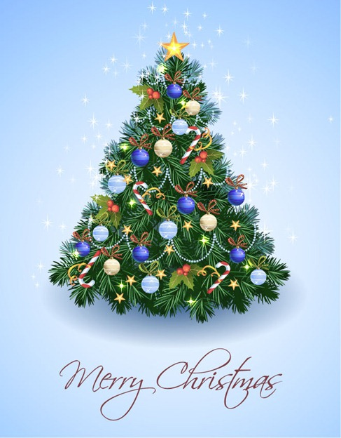 Vector illustration Christmas Tree