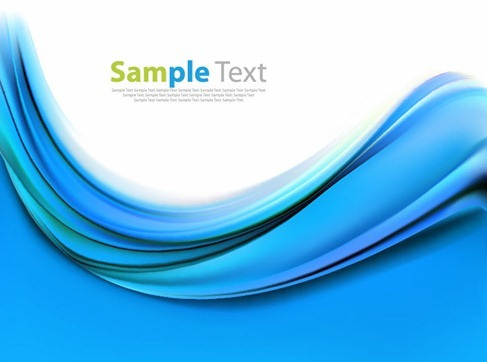 Blue Wave Business Template Vector Illustration
