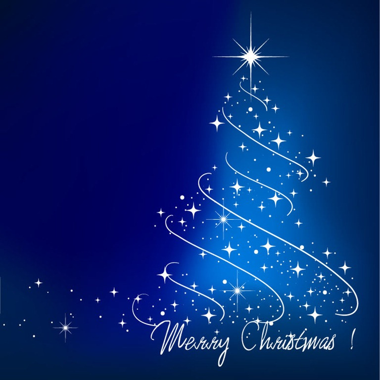 Blue Christmas Tree Vector Illustration | Free Vector Graphics ...