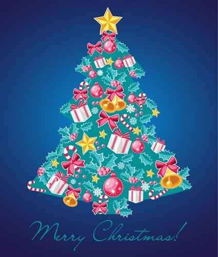 Christmas Tree Vector Illustration 7