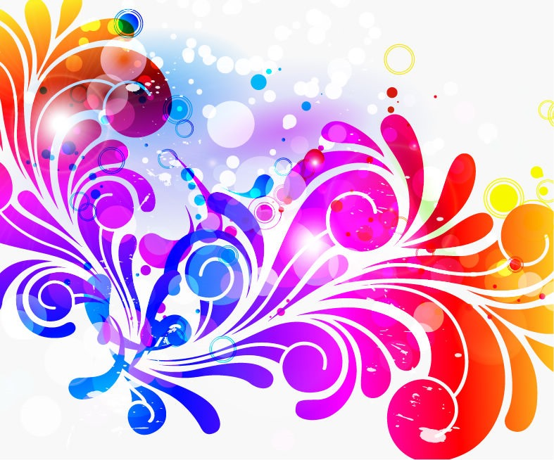 Abstract Design Colorful Background Vector Graphic