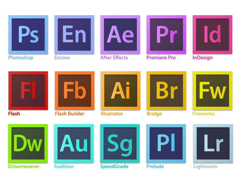 adobe creative suite family software logo vector free vector