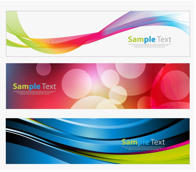 Colorful banners vector graphic free vector graphics for Top websites for artists
