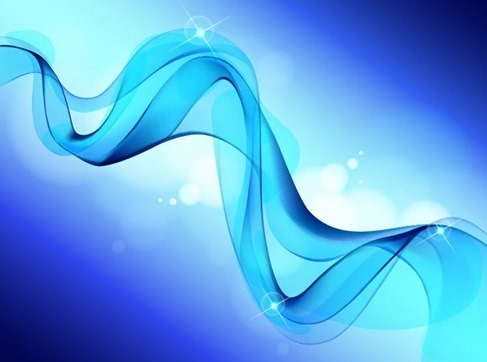 Abstract Blue Smooth Waves Background Vector Graphic