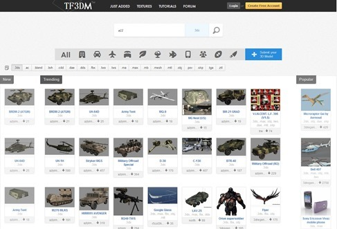 Find free 3d models on site of the day all 3d model sites