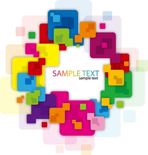 Abstract Background with Colorful Rounded Rectangles Vector Illustration