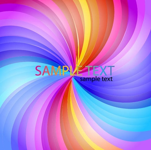 Abstract Rainbow Stripe Vector Background