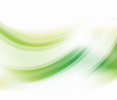 Abstract Green Curve Vector Background