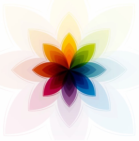 Colorful Abstract Flower Vector Graphic