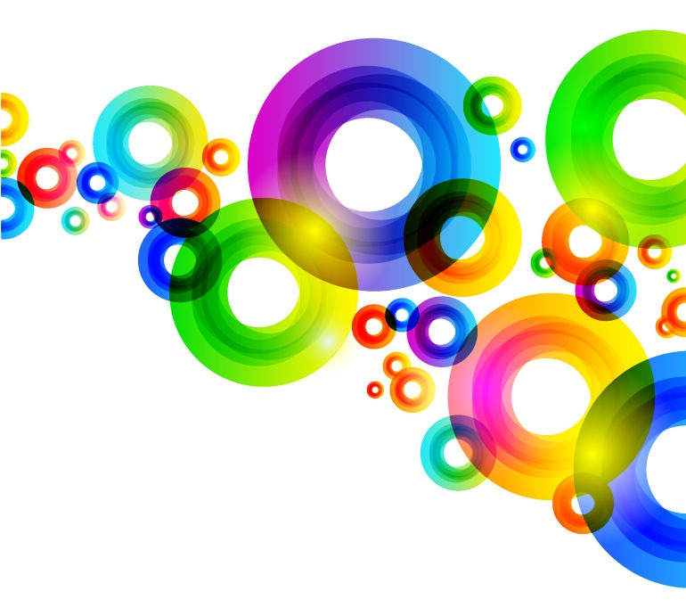 Colorful Circles Background Vector Graphic  Free Vector Graphics