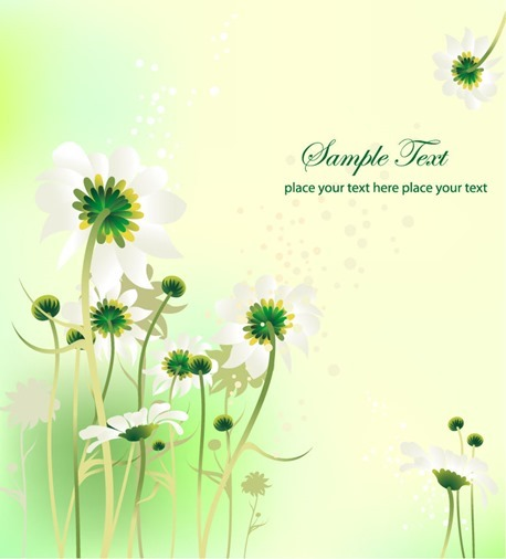 Flower Design Summer Background Vector Graphic