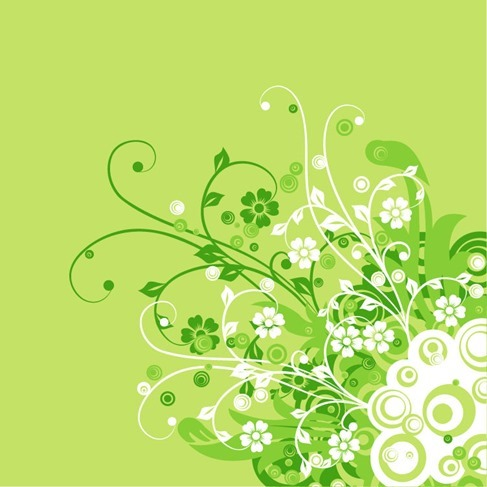 Abstract Floral Swirl Flower Vector Background
