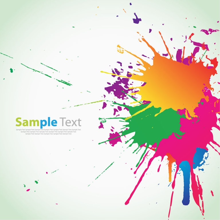 Colorful Ink Splashes Background Vector Graphic  Free Vector Graphics