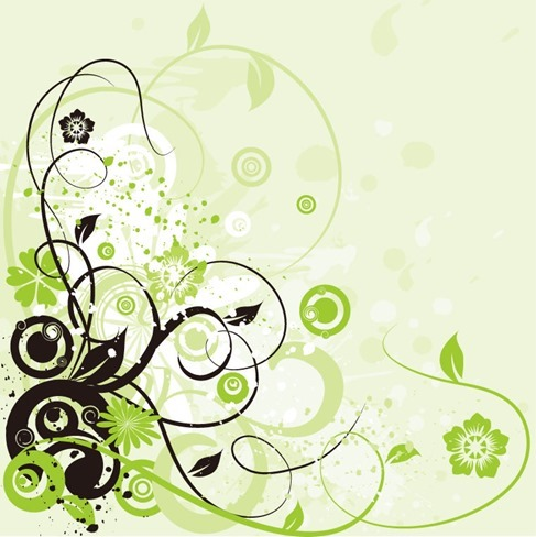 Floral Swirl Background Abstract Vector Graphic