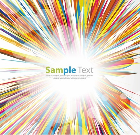 Multicolored Abstract Burst Vector Graphic