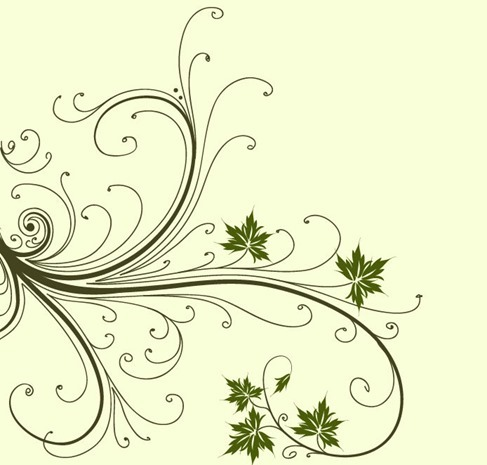 Swirl Floral Abstract Vector Graphic
