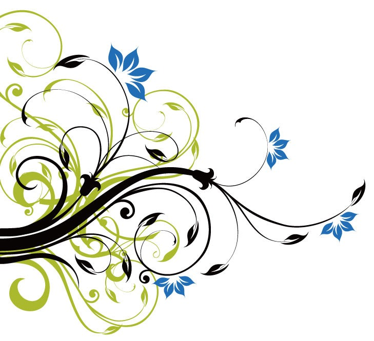 Floral Decoration swirl floral decoration background vector graphic | free vector