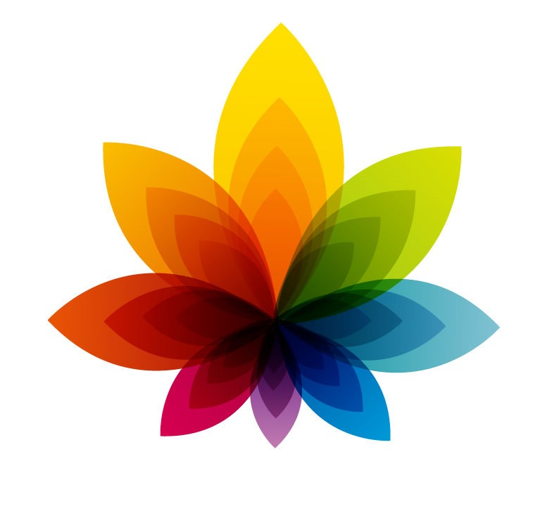 Colorful Flower Abstract Background Vector Graphic  Free Vector