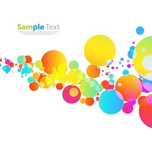 Colorful Pattern on White Background Vector Graphic