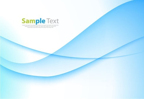 Abstract Blue Business Technology Wave Vector Background Graphic