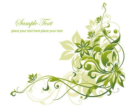 Abstract Green Floral Background Vector Graphic Art