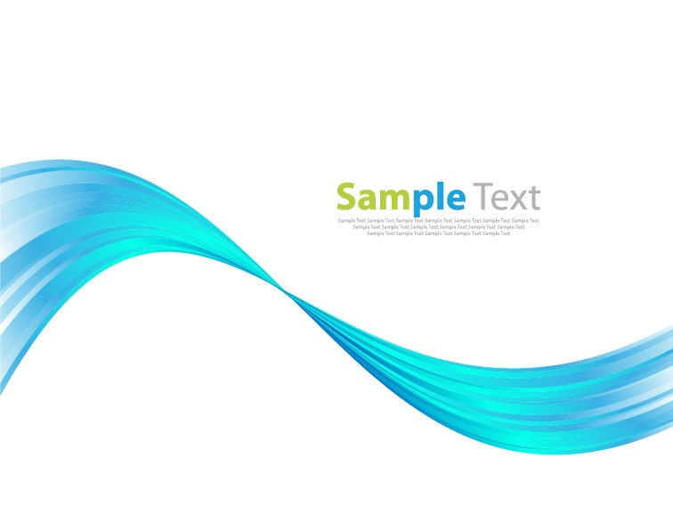 Blue Wave Abstract Art Background Vector Graphic  Free Vector
