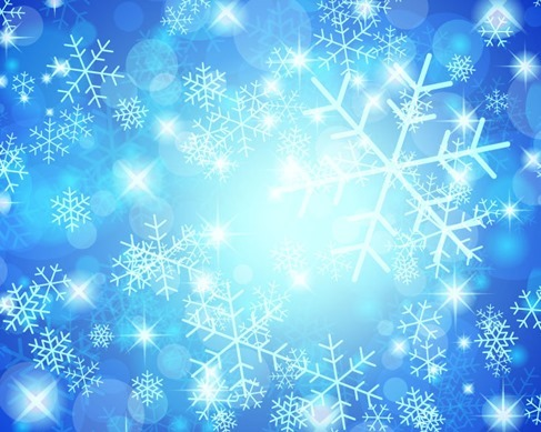 Christmas Snowflakes Blue Background Vector Graphic
