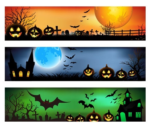 Vector Banners for Halloween