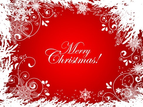 Abstract Christmas Background Vector Graphic