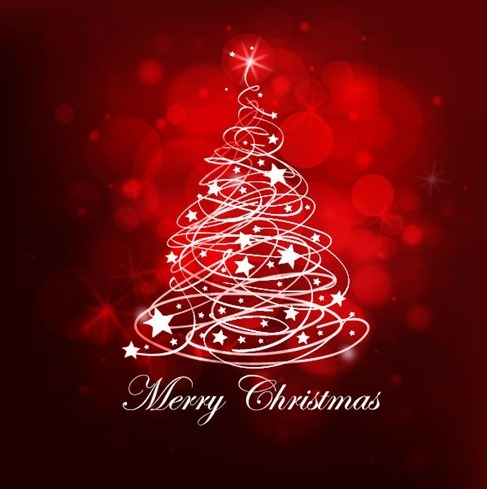 Abstract Christamas Red Background Vector Graphic