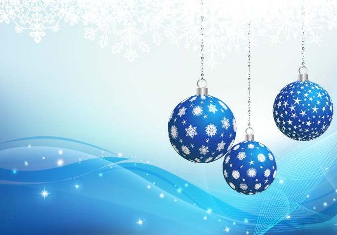 Blue Christmas Ornament Backgound Vector Graphic | Free Vector ...
