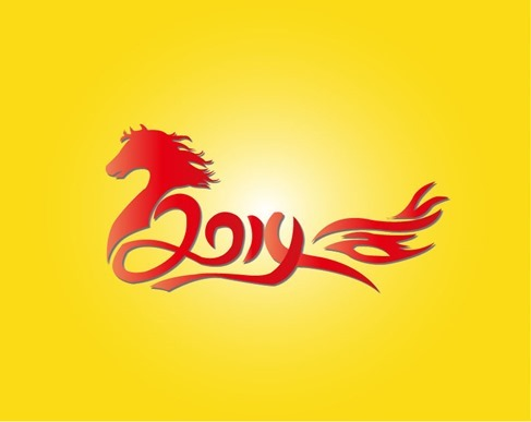 2014 Chinese New Year of the Horse Vector Illustration