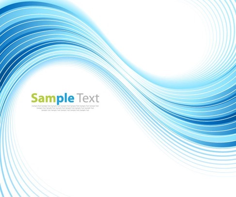 Abstract Blue Wave Background Vector Illustration